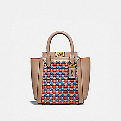 COACH 618 Troupe Tote 16 With Weaving B4/LAKE MULTI
