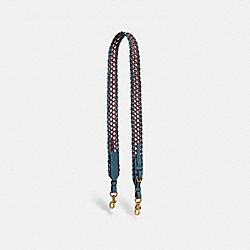 COACH 626 Strap With Weaving B4/LAKE MULTI
