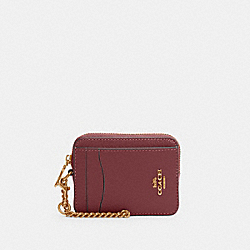 COACH 6303 - ZIP CARD CASE IM/VINTAGE MAUVE