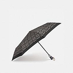 COACH 63364 Signature Umbrella SV/BLACK GREY/BLACK