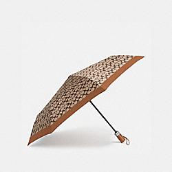 COACH 63364 Signature Umbrella SV/KHAKI SADDLE