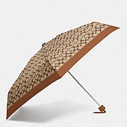 COACH 63365 Signature Mini Umbrella SV/KHAKI SADDLE
