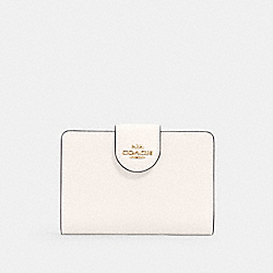 COACH 6390 - MEDIUM CORNER ZIP WALLET IM/CHALK