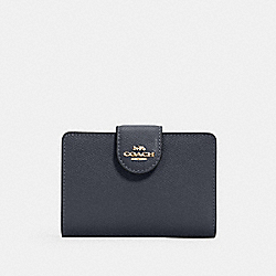COACH 6390 - MEDIUM CORNER ZIP WALLET IM/MIDNIGHT