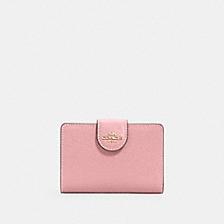 COACH 6390 - MEDIUM CORNER ZIP WALLET IM/BUBBLEGUM