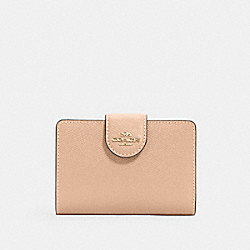 COACH 6390 - MEDIUM CORNER ZIP WALLET IM/TAUPE