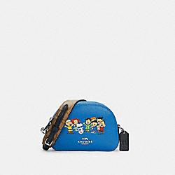 COACH X PEANUTS MINI SERENA SATCHEL WITH SNOOPY AND FRIENDS - 6490 - SV/VIVID BLUE