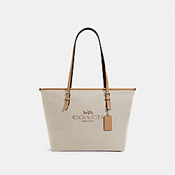 CITY ZIP TOTE - SV/NATURAL - COACH 6528