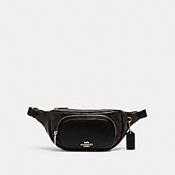 COURT BELT BAG IN SIGNATURE CANVAS - 6548 - IM/BROWN BLACK