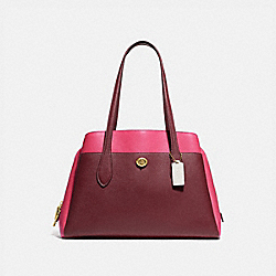 COACH 654 - LORA CARRYALL IN COLORBLOCK B4/WINE MULTI