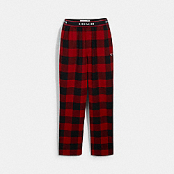 COACH 6609 - FLANNEL PAJAMA PANTS CHERRY BUFFALO PLAID