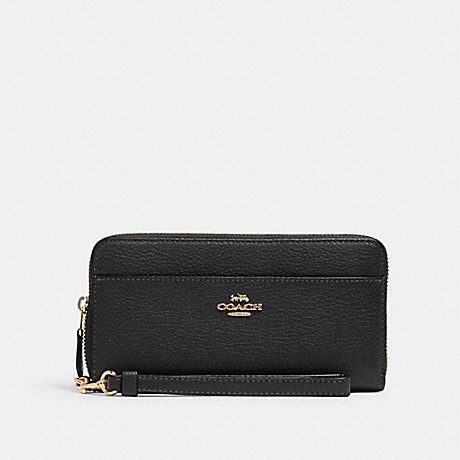 COACH 6643 ACCORDION ZIP WALLET IM/BLACK
