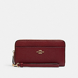COACH 6643 - ACCORDION ZIP WALLET IM/DEEP RED