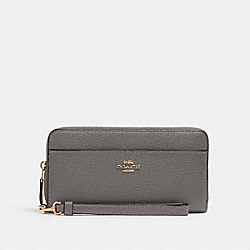 COACH 6643 - ACCORDION ZIP WALLET IM/HEATHER GREY