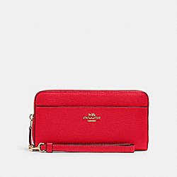 COACH 6643 Accordion Zip Wallet IM/CARNATION