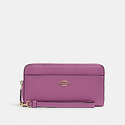 COACH 6643 - ACCORDION ZIP WALLET IM/LILAC BERRY
