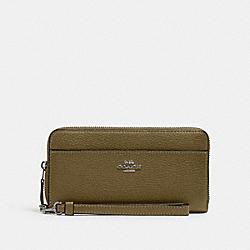 COACH 6643 Accordion Zip Wallet With Wristlet Strap QB/KELP