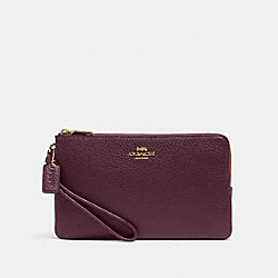 DOUBLE ZIP WALLET - 6644 - IM/BOYSENBERRY
