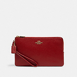 COACH 6644 - DOUBLE ZIP WALLET IM/1941 RED