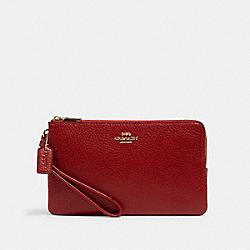 COACH 6644 Double Zip Wallet IM/1941 RED