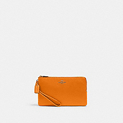 COACH 6644 Double Zip Wallet IM/BUTTERSCOTCH