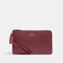 DOUBLE ZIP WALLET - 6644 - IM/VINTAGE MAUVE