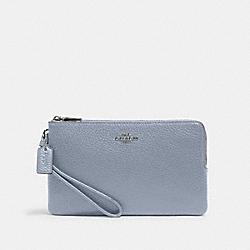 COACH 6644 Double Zip Wallet SV/MIST