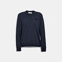 COACH 66535 Rexy Patch Crewneck NAVY