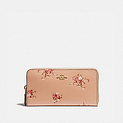COACH 66568 - ACCORDION ZIP WALLET WITH FLORAL BUNDLE PRINT BEECHWOOD FLORAL/GOLD