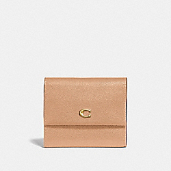 COACH 66571 - SMALL FLAP WALLET B4/BEECHWOOD