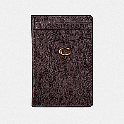 COACH 66612 - CARD HOLDER OXBLOOD/BRASS