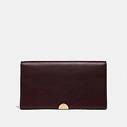 COACH 66615 - DREAMER WALLET OXBLOOD/GOLD