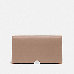 COACH 66615 Dreamer Wallet LIGHT NICKEL/TAUPE