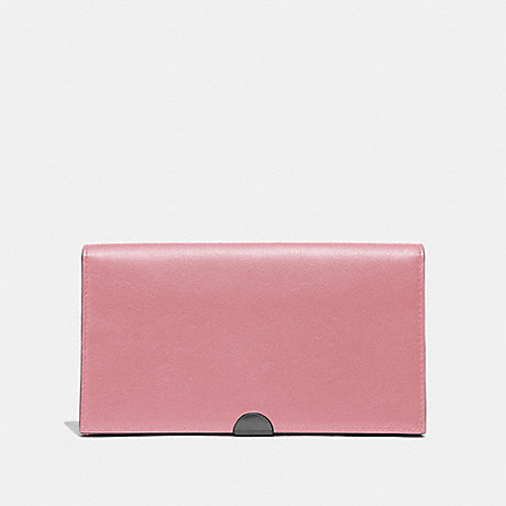 COACH 66615 DREAMER WALLET TRUE PINK/PEWTER