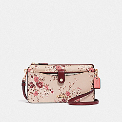 COACH 66654 - NOA POP-UP MESSENGER WITH MIXED FLORAL PRINT MULTI/GOLD