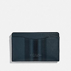 COACH 66768 - SMALL CARD CASE WITH PAINTED VARSITY STRIPE DENIM/BLACK/DARK DENIM