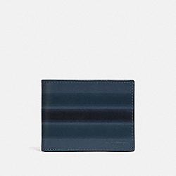 COACH 66769 Slim Billfold Wallet With Painted Varsity Stripe DENIM/BLACK/DARK DENIM