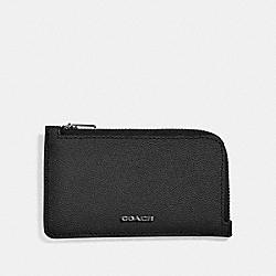 COACH 66832 - L-ZIP CARD CASE BLACK