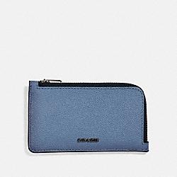 COACH 66832 L-zip Card Case LIGHT DENIM