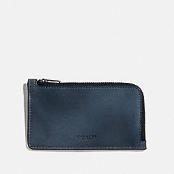 COACH 66848 L-zip Card Case DENIM