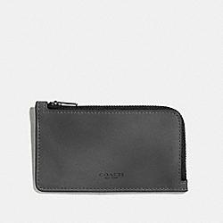 COACH 66848 L-zip Card Case GRAPHITE