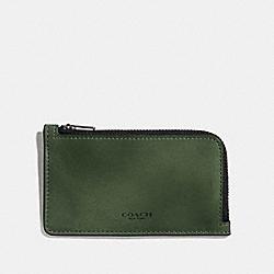 COACH 66848 - L-ZIP CARD CASE OLIVE