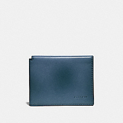 COACH 66850 - TRIFOLD CARD WALLET DENIM