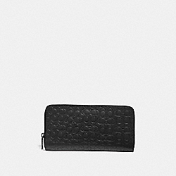 TRAVEL WALLET IN SIGNATURE LEATHER - 66864 - BLACK