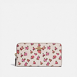 COACH 67170 - ACCORDION ZIP WALLET WITH MINI VINTAGE ROSE PRINT CHALK MINI VINTAGE ROSE/GOLD