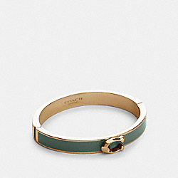 COACH 67480 - SIGNATURE PUSH HINGED BANGLE GD/WASHED GREEN