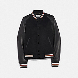 COACH 67485 Blank Varsity Jacket BLACK