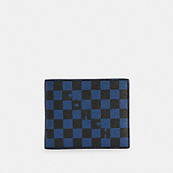 3-IN-1 WALLET WITH CHECKER PRINT - 6749 - QB/TRUE BLUE MULTI