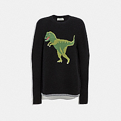 COACH 67708 - REXY INTARSIA SWEATER BLACK
