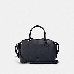 COACH 67710 - COACH DREW SATCHEL WITH SNAKESKIN DETAIL MIDNIGHT NAVY/GUNMETAL